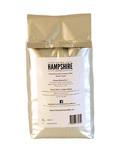 The best coffee beans in the uk. Hampshire Coffee Co - House Blend No 1- Great Taste Award Winner 2014 - Coffee Beans 1kg Bag ...
