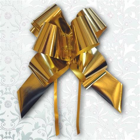 Large Pull Bows Metallic Gold