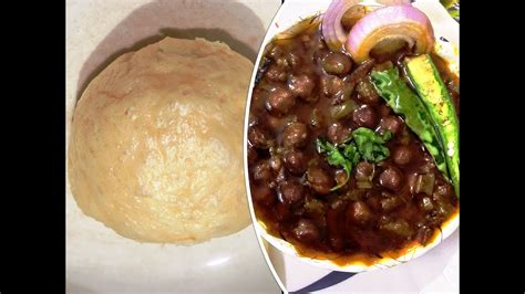 Chole bhature is a combination of spicy chickpea curry and fried. Instant Chole Bhature   Street food recipe   Bhature ...