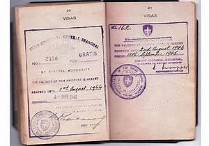 Manchurian visa inside a British passport