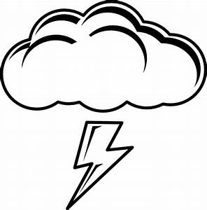 Thundercloud Black White Clipart | i2Clipart - Royalty ...