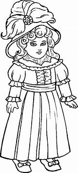 Coloring Dolls Pages Doll Printable Miscellaneous Rag Coloring2print sketch template