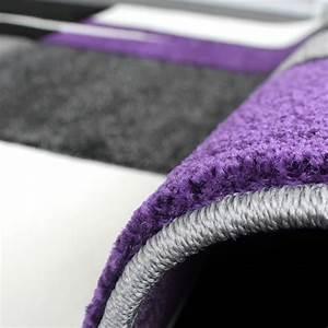 Teppich Grau Lila : designer teppich mit konturenschnitt teppich kariert lila schwarz grau alle teppiche ~ Indierocktalk.com Haus und Dekorationen
