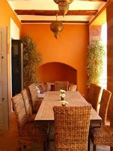 classic outdoor moroccan dining room design with rattan