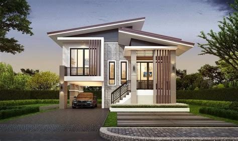 modern  bedroom  story house   car garage ulric home philippines house design