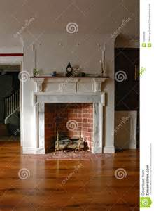 colonial style home interiors fireplace in antique colonial style home interior stock photo image 12269530