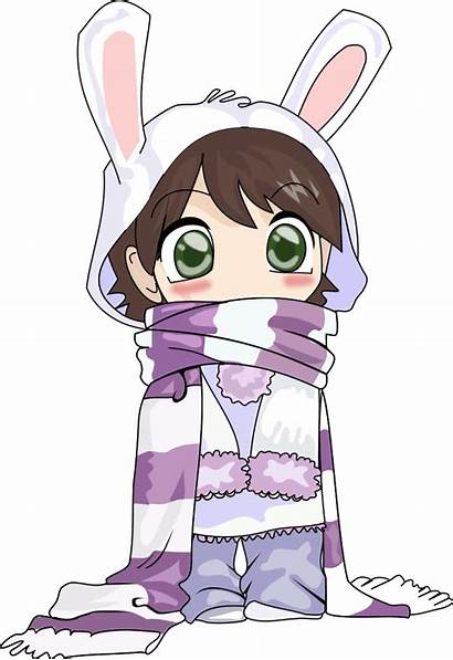 Anime Clipart Clip Svg Winter Rabbit Drawing