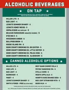 Ballpark Food/Beverage Menu - Green Bay Bullfrogs : Green ...