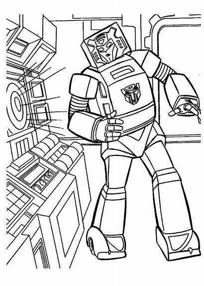 Coloring Bumblebee Transformers Pages Listening Transformer Robot