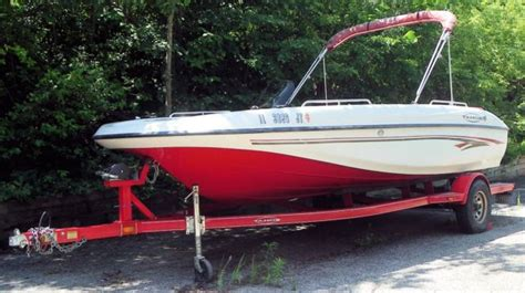 Used Tahoe Boats Illinois by 2003 Tahoe 192 Deckboat With Trailer For Sale In Mundelein
