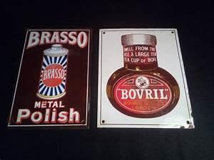 Plaques émaillées Anciennes : 2 anciennes plaques publicitaires emaill es brasso bovril catawiki ~ Medecine-chirurgie-esthetiques.com Avis de Voitures