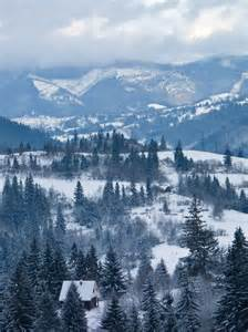 Carpathian Mountains Ukraine Winter
