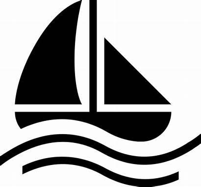Boat Icon Sailing Symbol Ship Water Vector