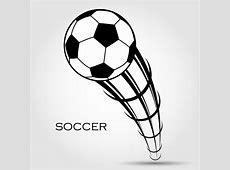 [フリーイラスト] 蹴られたサッカーボールの背景でアハ体験 GAHAG 著作権フリー写真・イラスト素材集
