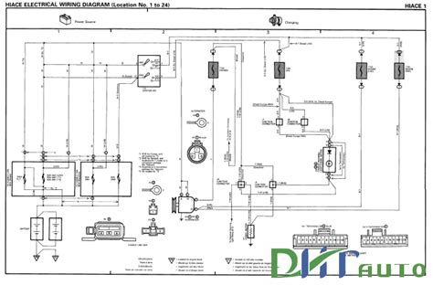 toyota hiace electrical wiring diagram free toyota workshop manual