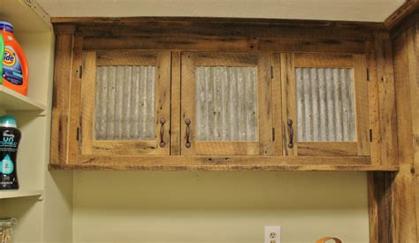 barn door kitchen cabinets rustic upper cabinet reclaimed barn wood w tin doors