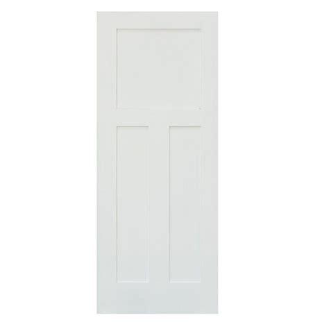 3 panel interior doors home depot krosswood doors 30 in x 80 in craftsman shaker 3 panel