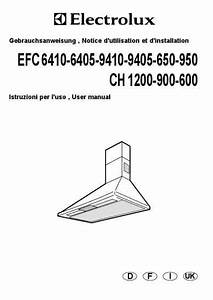 Electrolux Efc9405xch Cooker Hood Download Manual For Free