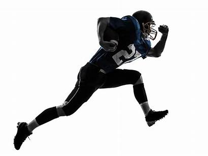 Football Player American Silhouette Running Ball Background