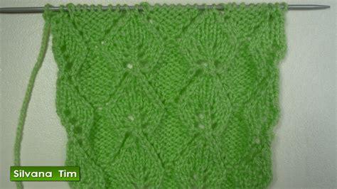 puntos de chompas a palillos punto puntada hojas caladas tejido con dos agujas 222