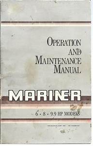 Mariner Outboard Operation And Service Manual For 6hp 8hp