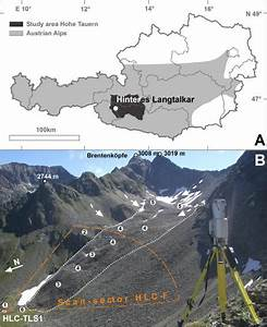 Location  A  And Situation  B  At The Hinteres Langtalkar Cirque  Hlc