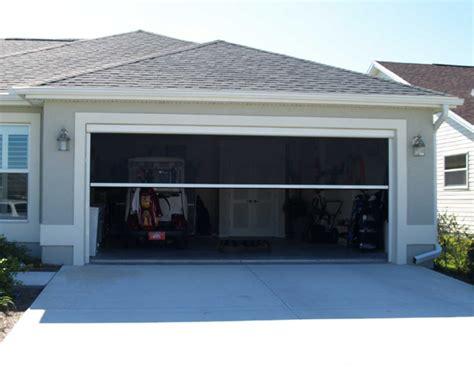 retractable electric garage door screen the porch factory