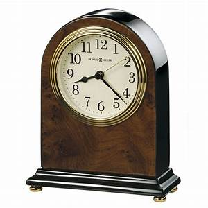 Bedford, Table, Clock, With, Walnut, Piano, Finish, Howard, Miller, 645576