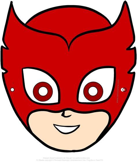 maschera  gufetta pj masks  super pigiamini da