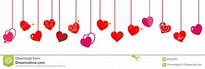 Hanging Hearts Heart Clipart Background Flat Vector