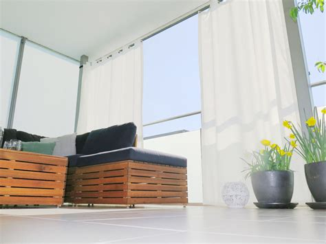 Sonnenschutz Vorhang Balkon by Outdoor Vorhang Santorini Fertigvorhang Weiss