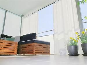 Sonnenschutz Für Den Balkon : outdoor vorhang santorini nach mass weiss ~ Michelbontemps.com Haus und Dekorationen