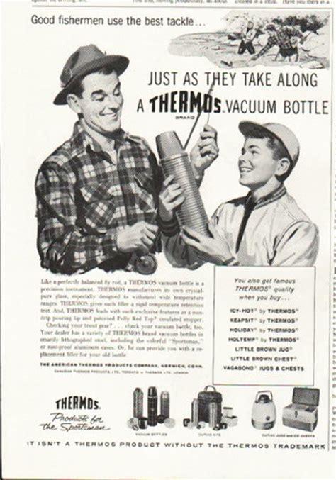 thermos vintage ad good fishermen