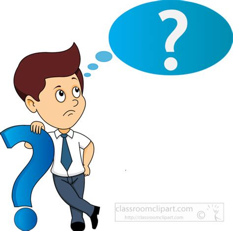Question Clipart Question Clipart Student Thinking Pencil And In