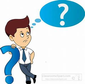 Question Mark clipart student thinking - Pencil and in ...