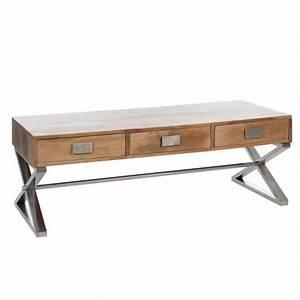 Table Basse Bois Pas Cher : table basse cdiscount pas cher table basse en bois ken ~ Carolinahurricanesstore.com Idées de Décoration