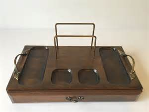 Mens Wooden Dresser Valet Tray by Vintage Wood Valet Men S Jewelry Tray Dresser By