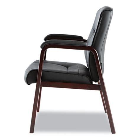 alera 174 alera madaris series leather guest chair w wood