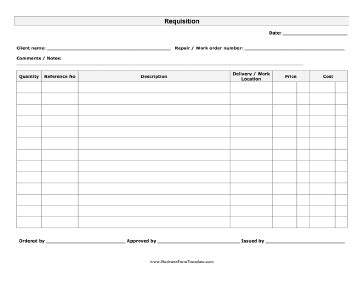 requisition form template requisition form template