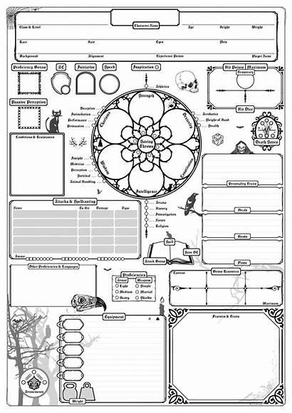 5e Sheet Character Oc Dnd Custom Gothic