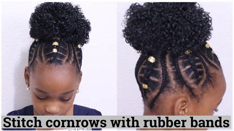 stitch cornrows  rubber bands  kids youtube