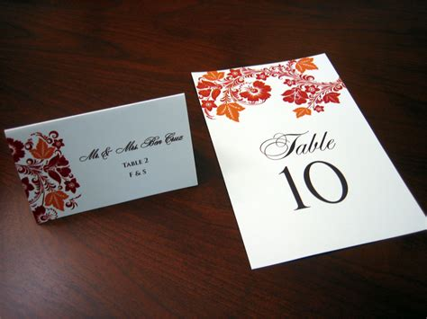 table number place cards red and orange wedding invitation a vibrant wedding