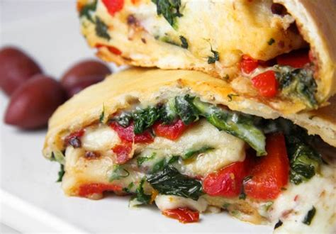 Veggie and Cheese Stromboli