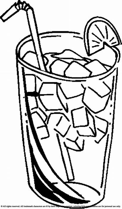 Juice Cold Coloring Clipart Drinks Pages Drinking