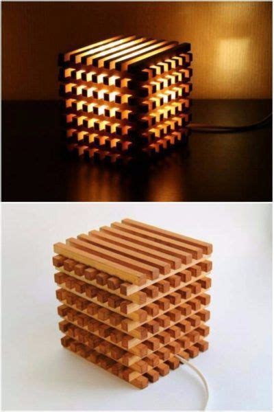 wooden bedside light cube wooden cubes wooden table diy