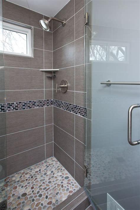 grey porcelain tile  chosen   floor shower walls