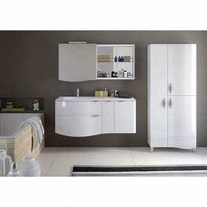 meuble de salle de bains blanc elegance leroy merlin With meuble salle de bain elegance