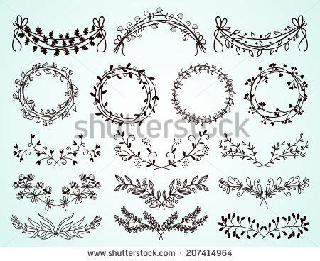 vintage flower border vector  vector