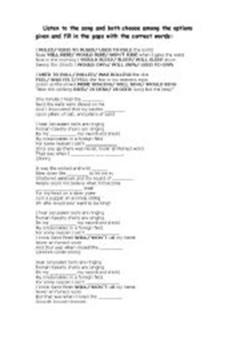 Talk Coldplay Testo by Teaching Worksheets Coldplay