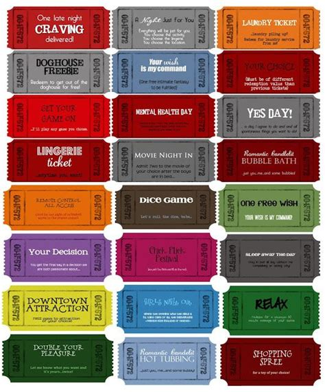 Coupon Book Template For Boyfriend by Coupon Templates Customizable Printable Coupons For